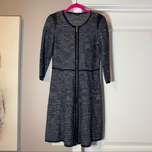 Ann Taylor Zipper Front Sweater Dress